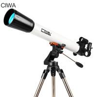 CIWA Outdoor Professional Astronomical Telescope Monocular Optical Refractor Design Portable Tripod Space telescopic Telescope