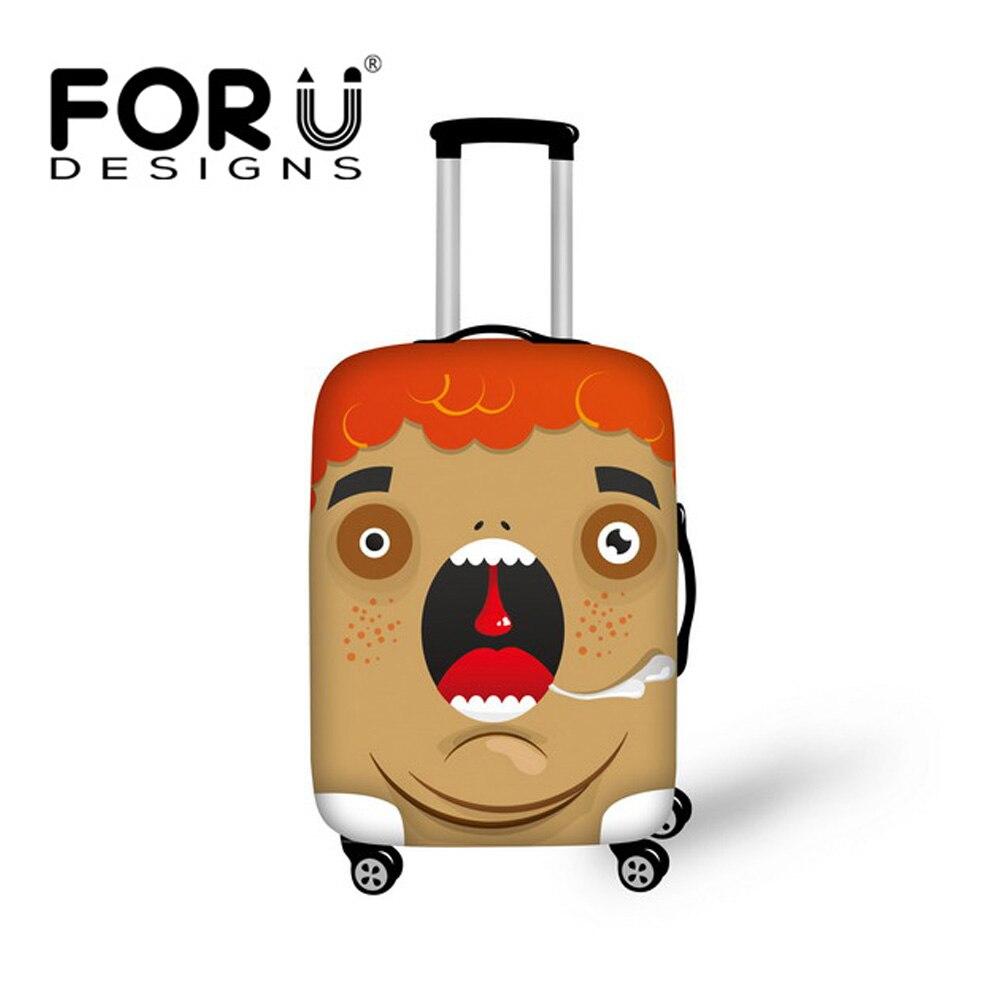 Forudesigns/эластичный стрейч защита чемодан Чехлы для мангала относятся к 18 -30 чемодан мультфильм emoji Туристические товары Чемодан Чехлы для м...