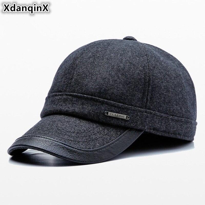 XdanqinX hombres adultos sombrero grueso cálido gorras de béisbol 2019  nuevo estilo hombre hueso marcas del casquillo del Snapback ajustable  tamaño de la ... 094298532aa