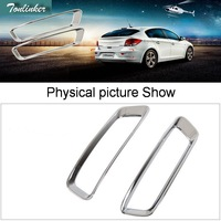 2 PCS DIY Car Styling NEW ABS Chrome The Rear Fog Sticker Cover Case For 2013