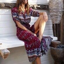 Women Long Maxi Dresses Bohemia Dress MT