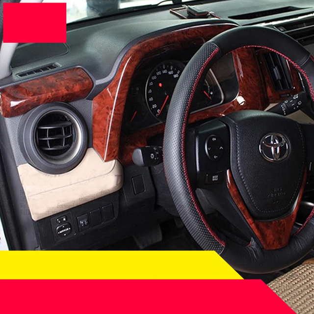 Lsrtw2017 Abs Wood Color Car Interior Trims For Toyota Rav4 2017 2016 2018 Xa40