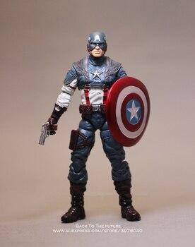 Disney Marvel Avengers Captain America 18cm Action Figure Anime Mini Decoration PVC Collection Figurine Toy model child gift