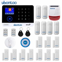 Ubontoo беспроводной SIM GSM дома RFID охранной сенсорная клавиатура Аварийная сигнализация wifi GSM сенсор комплект во многих странах голос