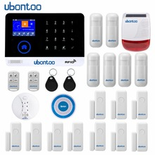ubontoo Wireless SIM GSM Home RFID Burglar Security Touch Keyboard WIFI Alarm System Sensor kit Many countries Voice