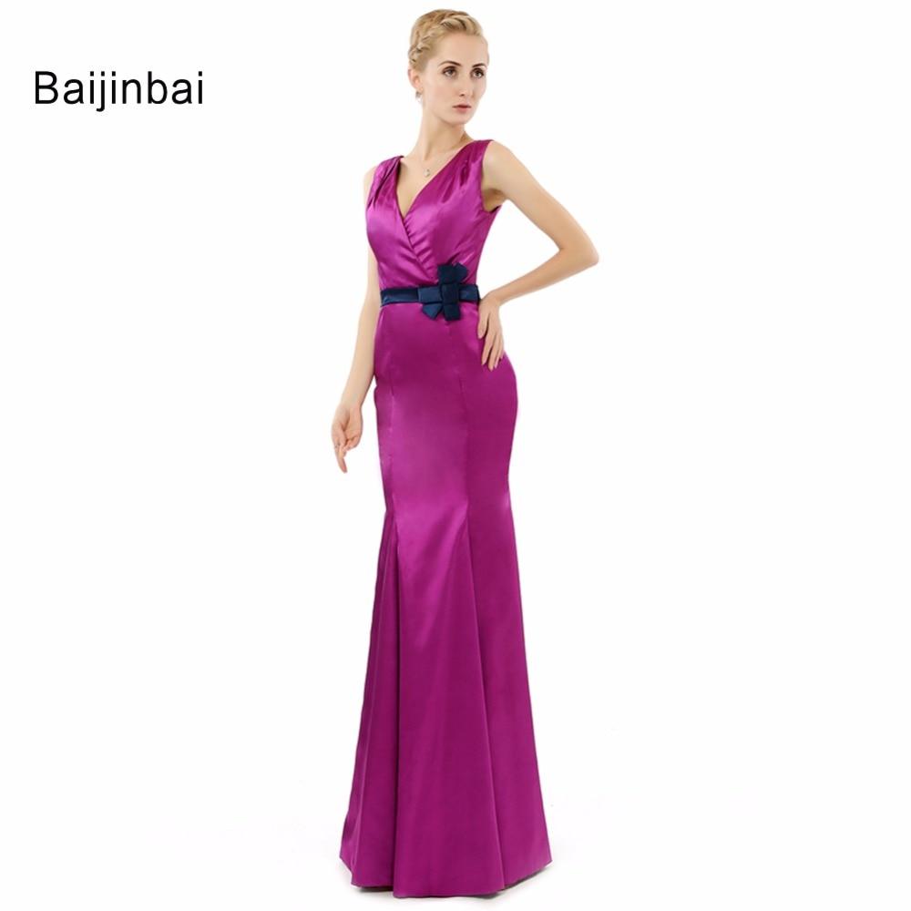 ①Baijinbai 2018 mujeres estilo sirena vestido Formal Robe De Soiree ...
