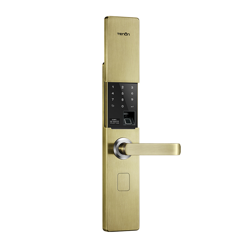 V9 IC Fingerprint Touch Screen Password Entrance Anti-theft Door Electronic Smart Lock Red bronze/K gold/green bronze все цены