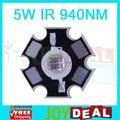 5 W Infrared IR 940NM High Power LED Bead Emitter DC1.4-1.7V 1400mA com 20 mm estrela Platine Base de dados