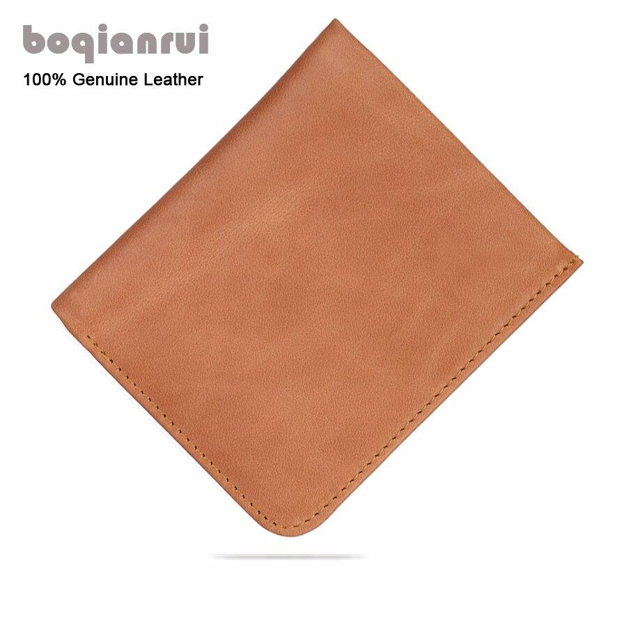 Wallet men short genuine leather wallet male small wallet male Ultra-thin wallet male vertical retro purse male etya men s wallet genuine leather short
