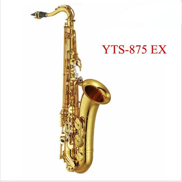 Professional Tenor saxophone New YTS 875EX B flat Lacquer gold brass sax High Quality playing professionally