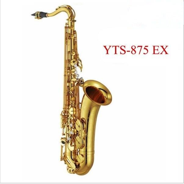 Professionnel saxophone Ténor Nouvelle YTS 875EX B plat Laque or en laiton sax Haute Qualité à jouer professionnellement classique boîte à musique