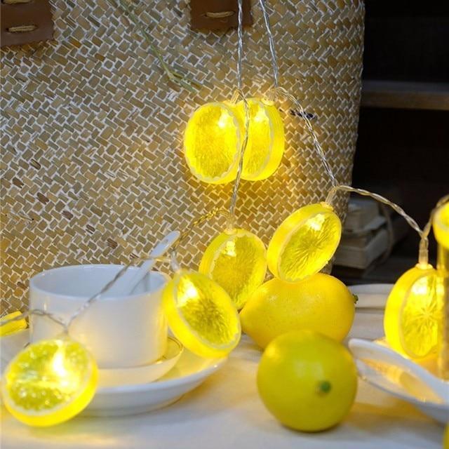 2 mt 20 LED Neuheit Zitrone Und Bananenform Lichterketten Hochzeit ...