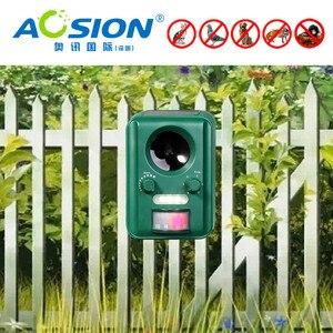 Image 3 - Бесплатная доставка AOSION уличные солнечные ультразвуковые управление животными для сада мигающие лисы летучие мыши птицы собаки репеллент