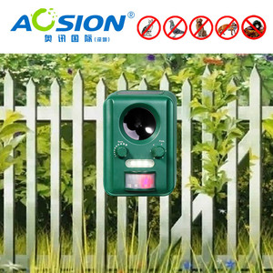 Image 3 - Free Shipping AOSION Outdoor Solar ultrasonic animal control garden use flashing fox Bats Birds Dogs Cats Repeller Repellent