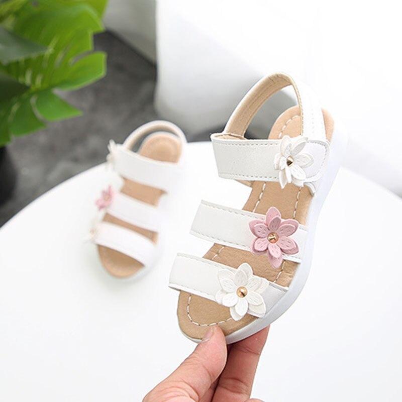Baby Girls Kids Toddler Princess Shoes Prewalker First Walking Beach Sandals Hot