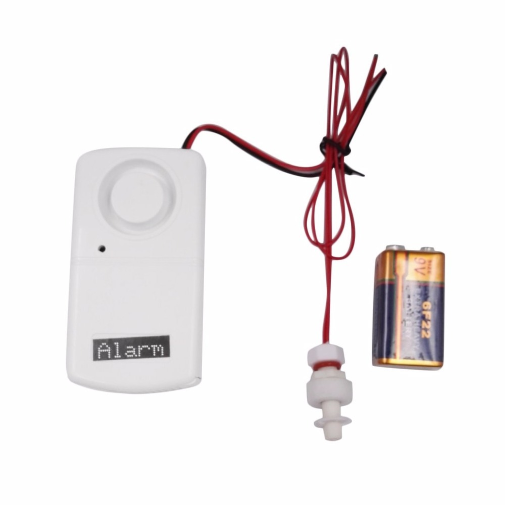 2017 Newest Wired Water Leakage Overflow Alarm Sensor Detector 120dB Work Alone Water Alarm House Home Security Alarm System цены