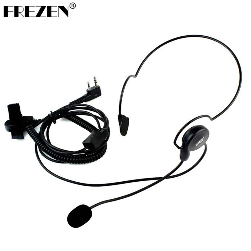 FREZEN 2 Pin Earpiece Mic Finger PTT Headset For Kenwood BAOFENG Radios UV-5R 777 888s  HYT PUXING High Quality