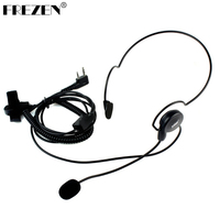 FREZEN 2 Pin PTT Słuchawka Mic Palec Zestaw Słuchawkowy dla HYT PUXING Radia Kenwood BAOFENG UV-5R 777 888 s Wysokiej Jakości
