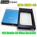 SDVR104 4-канальный Автомобильный видеорегистратор SD карта мобильный видеорегистратор GPS WIFI 4G мониторинг в реальном времени AHD dvr Поддержка 1080p ...