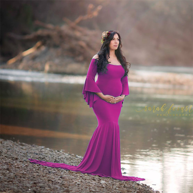 Maternity Photography Props Pregnant Dresses Maternity Dresses Photo Shoot Wedding Dress Maternity Clothes For Pregnant Women pregnant women plus size photography props lace dress pregnancy maternity fashion photo shoot long dress for baby shower clothes