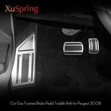 Car Styling Gas Copertura Pedale del Freno A Pedale Poggiapiedi Antiscivolo Acceleratore Overlay Accessori Per Peugeot 3008 5008 2017 2018 CON GUIDA A SINISTRA