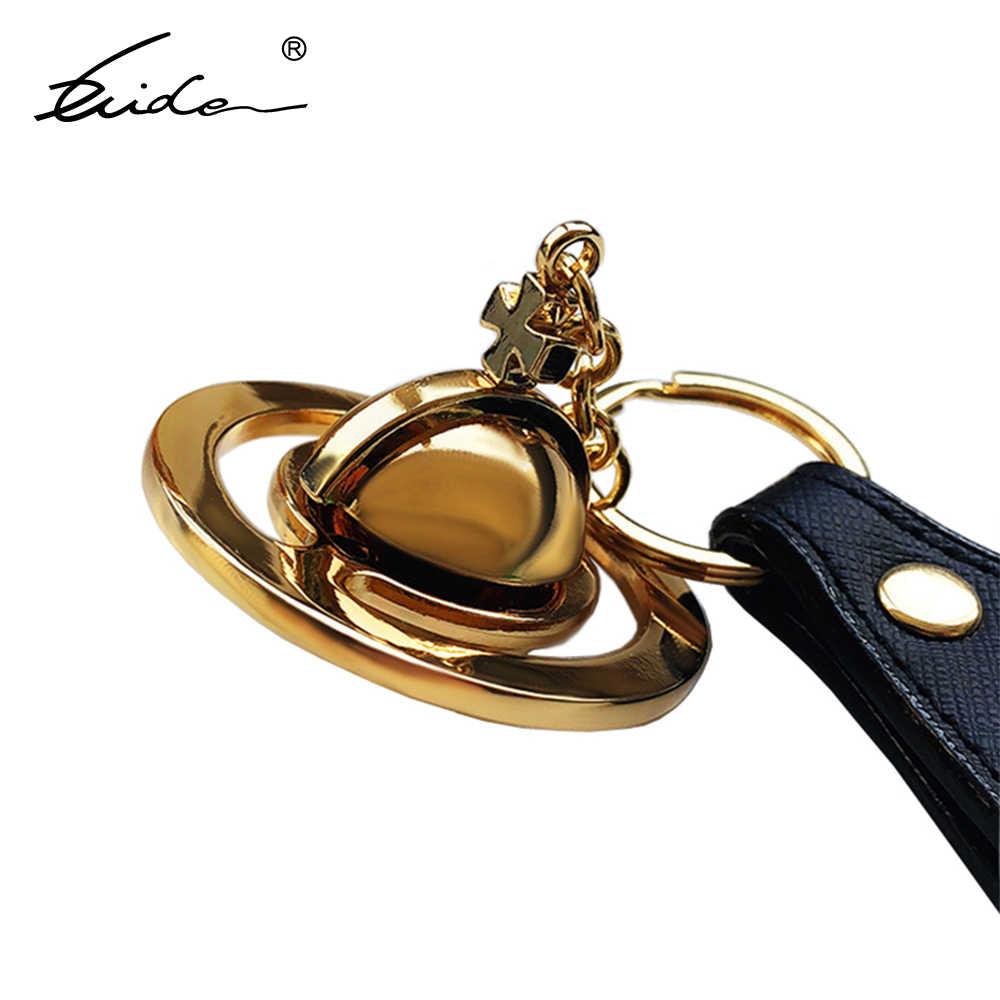 Casal romântico saturn keychian planeta chaveiro saco acessórios chaveiro presente para a mulher namorada