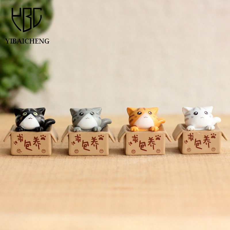 4Pcs /Lot Cartoon Cheese Cat Seek nurturing Anime Sets Action Figure Model DIY Toys For Children Kids Christmas Toys Girls Gifts 20pcs lot cute littlest pet shop toys lot figures collection toy cat dog loose kids action figure toys for children