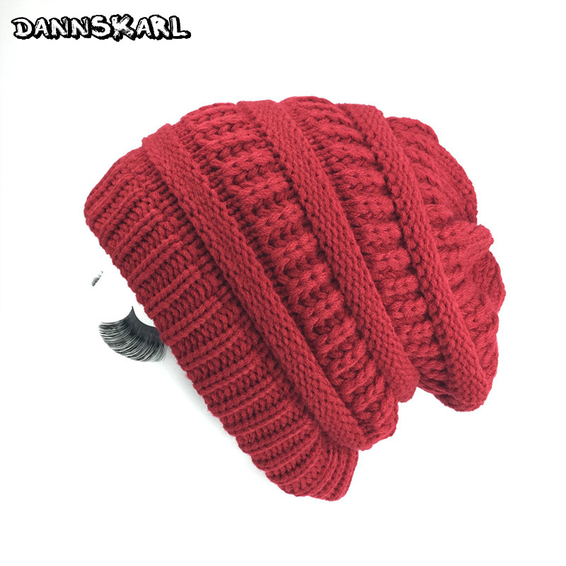 2017 Knitted Winter Hats for Women Touca Gorro Snow Women And Men caps Solid Woman Hats Skull Chunky Baggy Warm Skullies Beanie hight quality winter beanies women plain warm soft beanie skull knit cap hats solid color hat for men knitted touca gorro caps