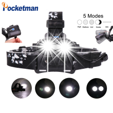 High Power Led Headlight 5 Modes Zoomable with Micro USB Charging 2*XML-T6 Adjustable Headlamp z45 high power led headlight 5 modes zoomable with micro usb charging 2 xml t6 adjustable headlamp z45
