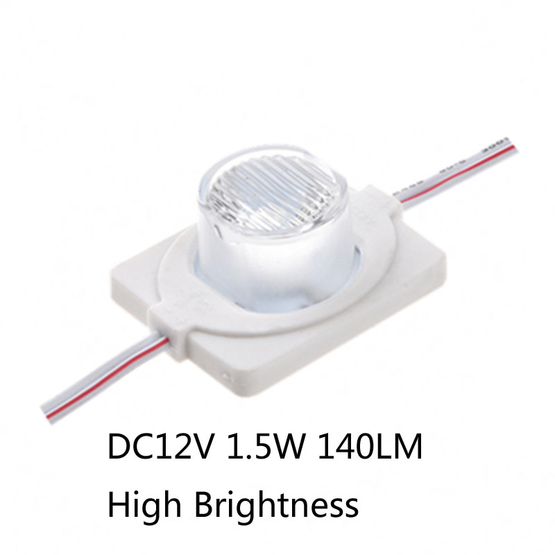 Search For Flights 20pcs/lot 1.5w High Power Led Module Double Side Lighting 5050 Led Lamps 1 Led Module Injection Lens Super Brightness For Logo Delaying Senility Lights & Lighting
