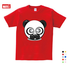 The Best Selling Childrens Summer Festival Gift Cartoon Cute TShirt Printing Giant Panda Fun send Children Birthday gift
