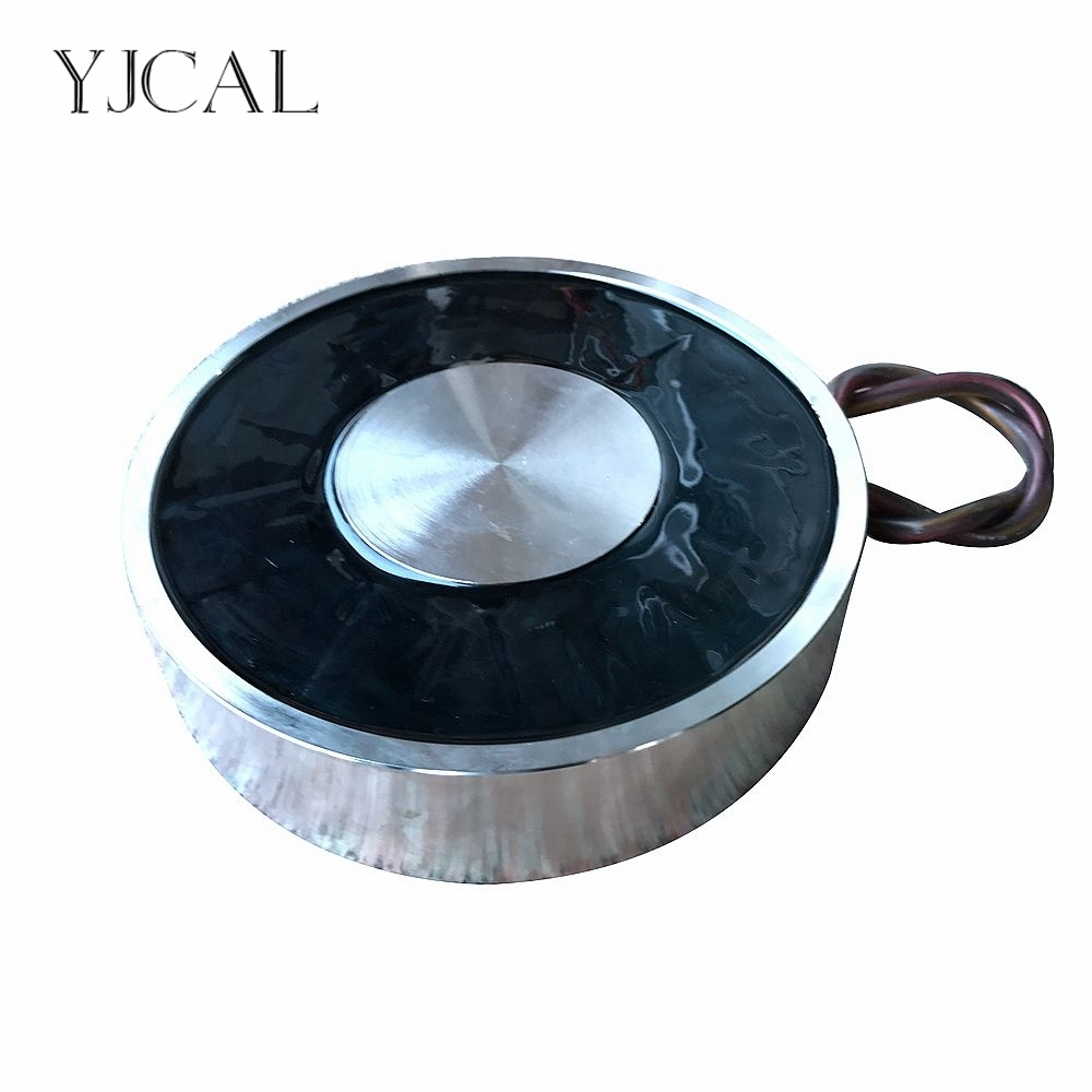 YJ 300/100 Холдинг Электрический присоски Электромагнит магнит DC 12 В 24 В всасывающая чашка цилиндрический подъема 5000 кг всасывающий плиты Китай