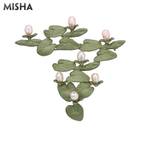 MISHA Tendy Pearl Brooch Jewelry Freshwater Pearl High Quality Handmade Jewelry Luxury Brooch Pins For Wedding Party Gifts 2357