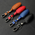 3-Button Leather Car Remote Key Holder Case Cover For Infiniti EX FX G25 G37 FX35 EX25 EX35 FX37 EX37 Q60 QX50 QX70
