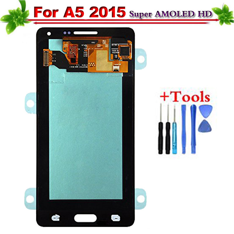 Super AMOLED Touch Screen for Samsung Galaxy A5 2015 LCD Display A500 A500F A500FU A500H Full Assembly ReplacementSuper AMOLED Touch Screen for Samsung Galaxy A5 2015 LCD Display A500 A500F A500FU A500H Full Assembly Replacement