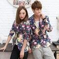 Hombres impreso Blazers 2016 patrón moda marca Floral Slim Fit de manga larga chaqueta de primavera otoño Blazers florales casuales trajes para hombre