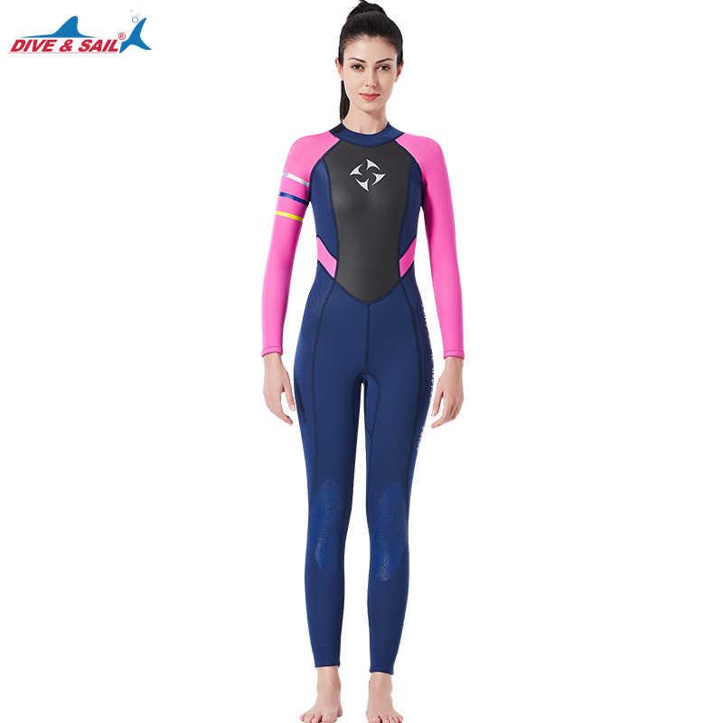 0892bc704b Women s Fullsleeve 3MM Neoprene Wetsuit Full Body Wetsuit Pink Black Scuba  Diving Thermal Full Suit