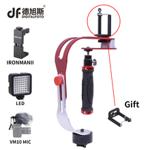 DIGITALFOTO DF02 DSLR handheld Camera stabilizer mini video steadicam for Gopro action video camera smartphone 1.5KG Weight bear