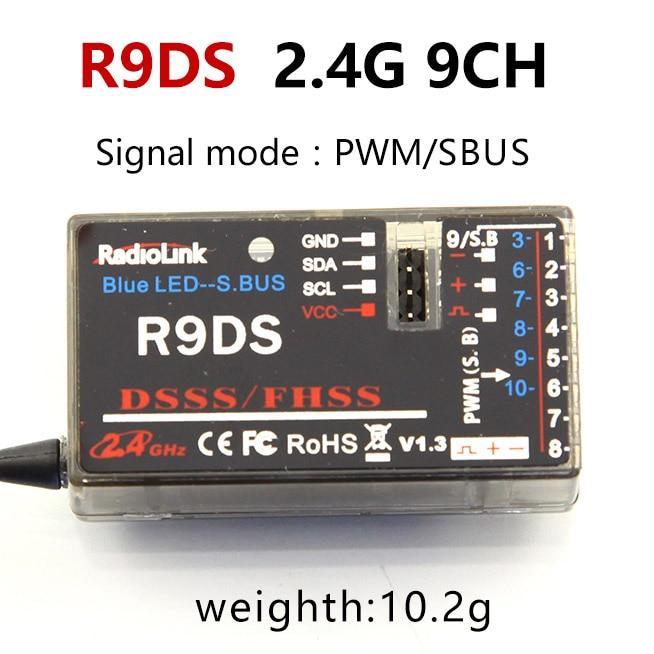 Radiolink R12DSM R12DS R9DS R8FM R6DSM R6DS R6FG Rc приемник 2,4G усилитель сигнала для передатчика радиоуправляемой модели AAT9/AT9S/AT10/AT10II - Цвет: R9DS