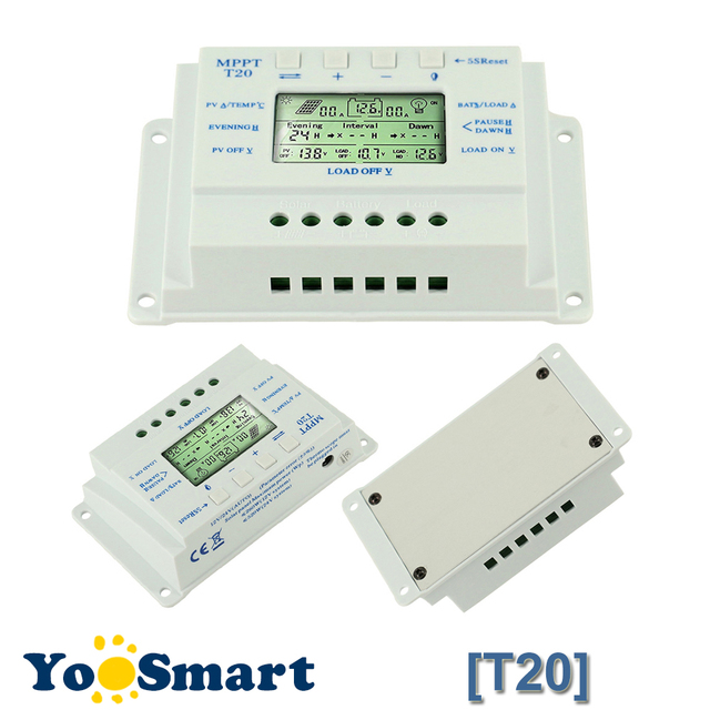 aliexpress com buy 20a solar charge controller 12v 24v lcd solar20a solar charge controller 12v 24v lcd solar panel regulator dual timer function for solar lighting system solar controller t20