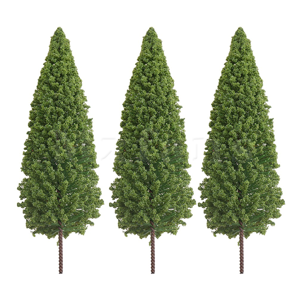 Mxfans 100mm Dark Green Plastic Model Train Railroad Scenery Trees For Sand Table Building Diy Landscape Pack Of 5 Parts & Accessories