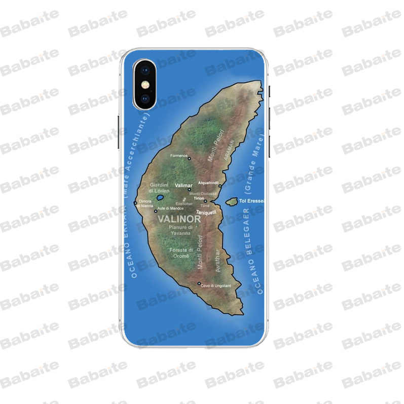 Babaite Lord Of The Rings Middle Earth Map Novelty Fundas Phone Case Cover for iPhone 5 5Sx 6 7 7plus 8 8Plus X XS MAX XR