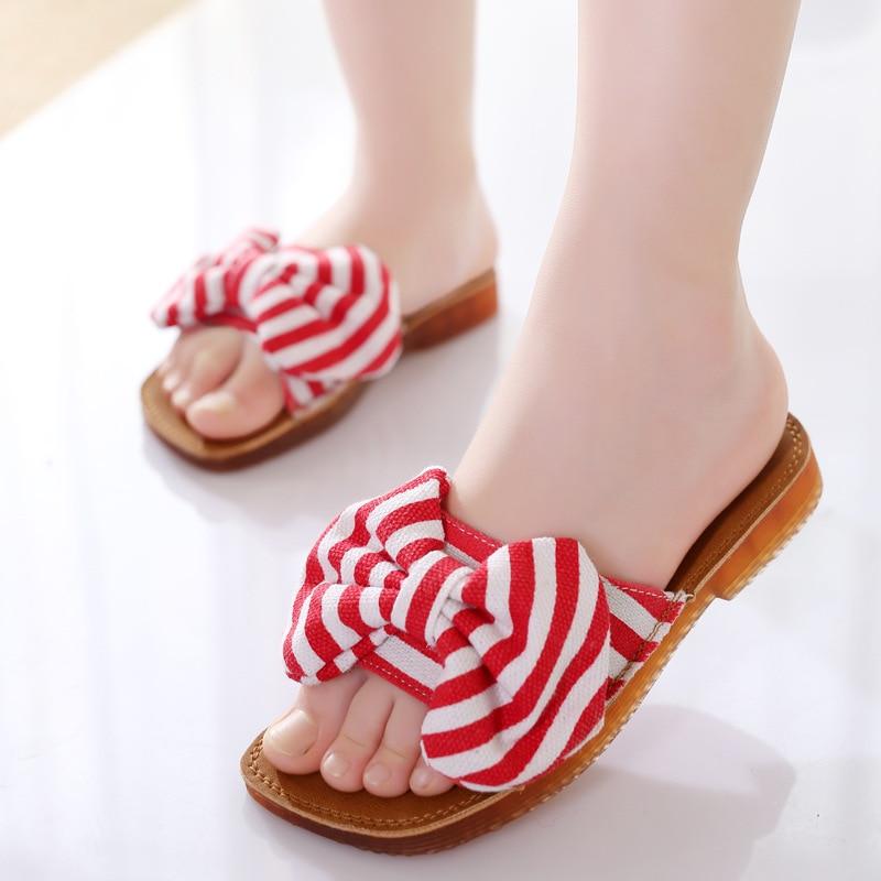 Dropwow Children Girls Slippers Sandals Kids Shoes Summer Girls Princess  Non-Slip Shoes With Bow Fashion Child Flip Flop Beach Shoes 342c8d8eeef3