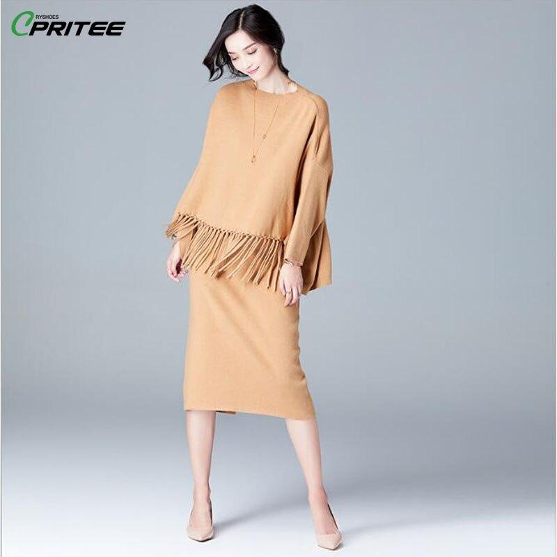 Knitted Sweater Skirt Set Batwing Sleeve Elegant 2 Piece Set Women Bodycon Split Top And Skirt Chic Ensemble Femme Survetement