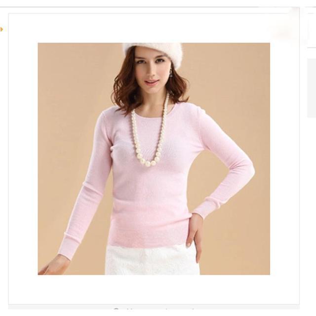 New Fashion Women Round Neck Pullover Sweater Female Knitting Cashmere Sweater Slim Multicolor Sweater