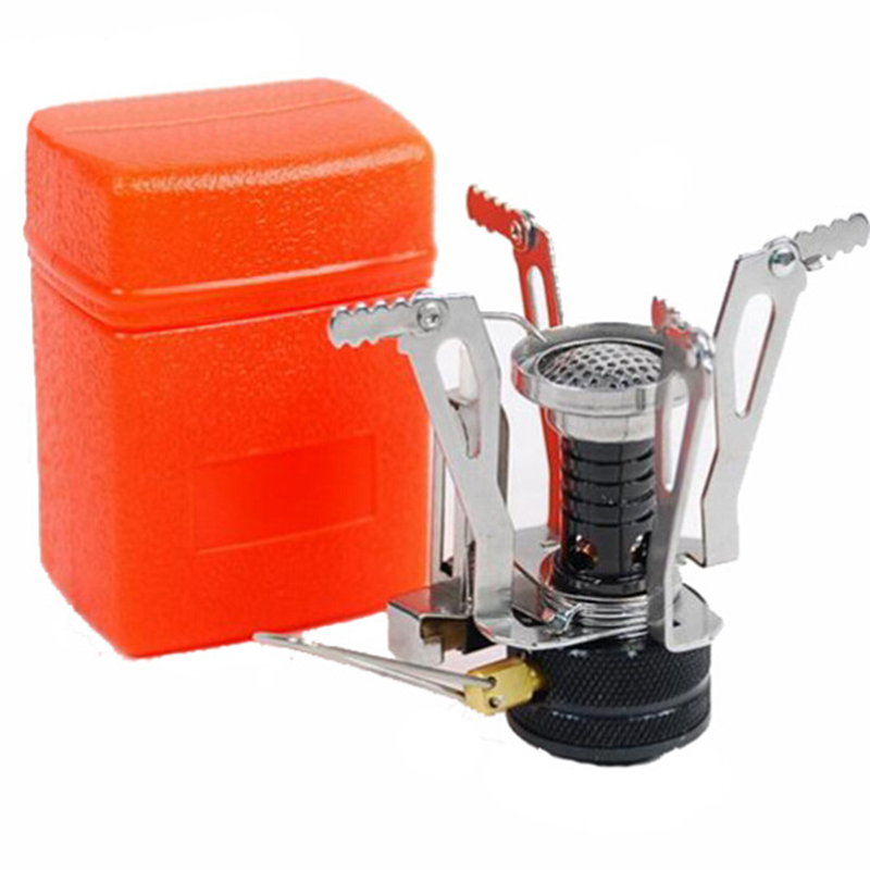 Mini Camping Stoves Folding Outdoor Gas Stove Portable Furnace Cooking Picnic Split Stoves  Cooker Burners цена и фото