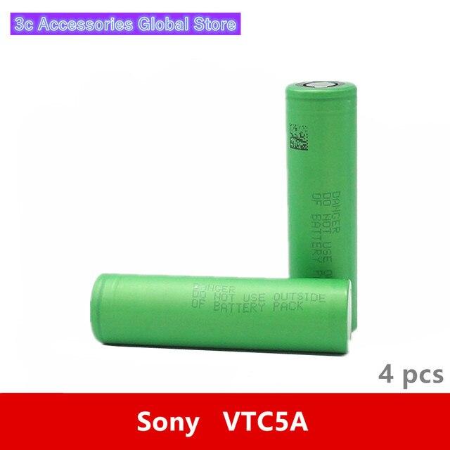 4pcs 3.7 v 18650 2600mah 35a 원래 소니 us18650vtc5a vtc5a 3.6 v imr 배터리 셀 장난감 전자 cig 토치 손전등 요법