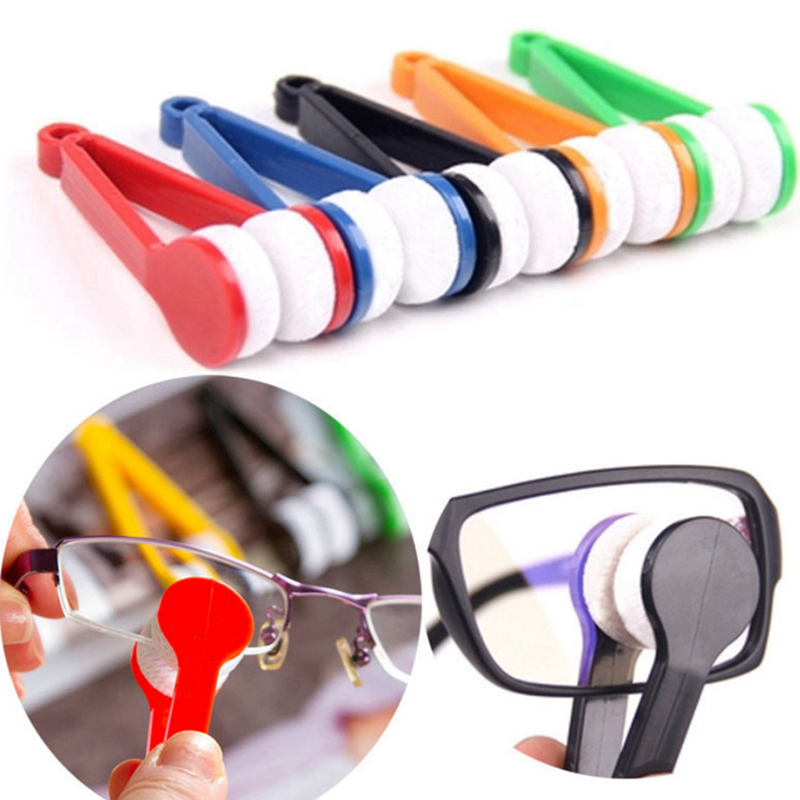 Glasses Sunglasses Travel Accessories Cleaning Brushin Strument Mini Multifunction Packing <font><b>Organizers</b></font> Portable Microfiber image
