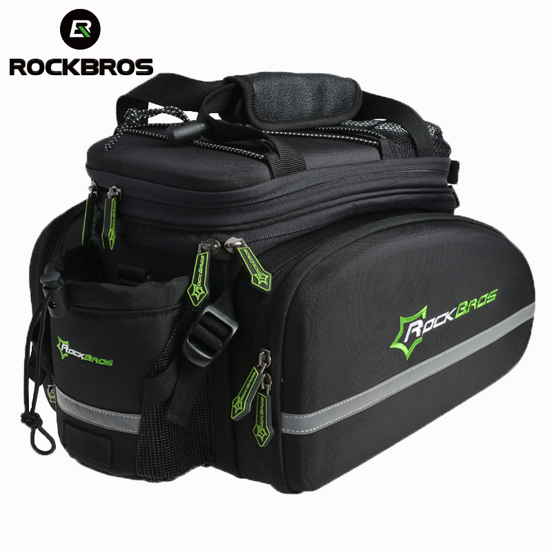 ROCKBROS Trunk Pannier Package Pack Cycling Bike Rear Saddle Pack Bag Multi-function Bike Bicycle Rear Carrier Bags Rear Pack12L roswheel 50l bicycle waterproof bag retro canvas bike carrier bag cycling double side rear rack tail seat trunk pannier two bags