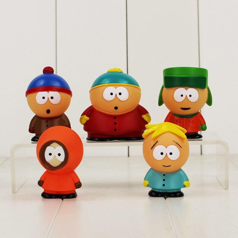 South Park PVC Figure Doll Toy Model Dolls Baby Toys 5pcs set Free Shipping